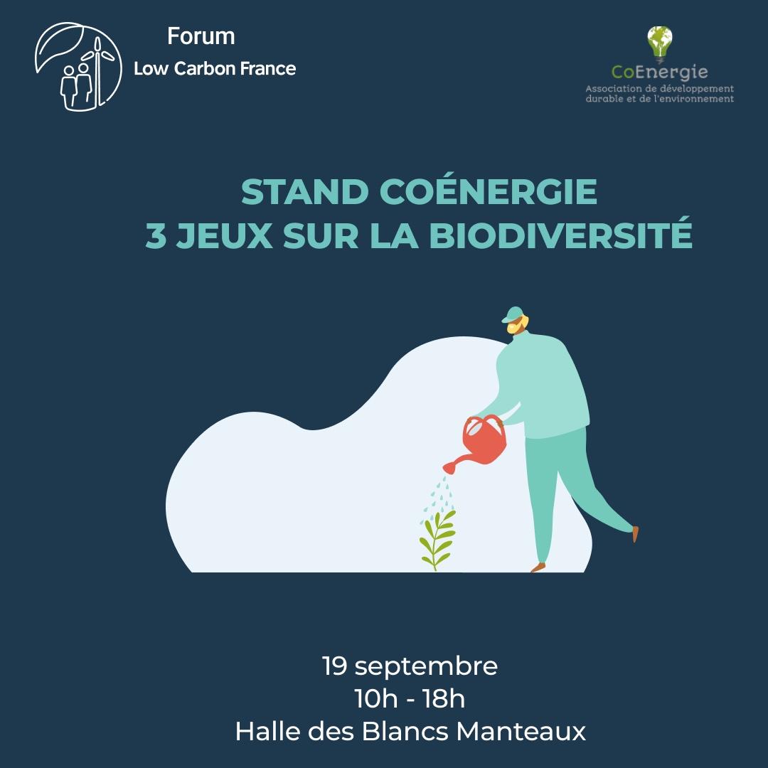 Stand CoÉnergie – 3 jeux sur la biodiversité