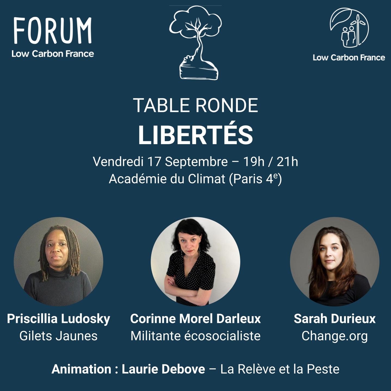 Table ronde – Libertés