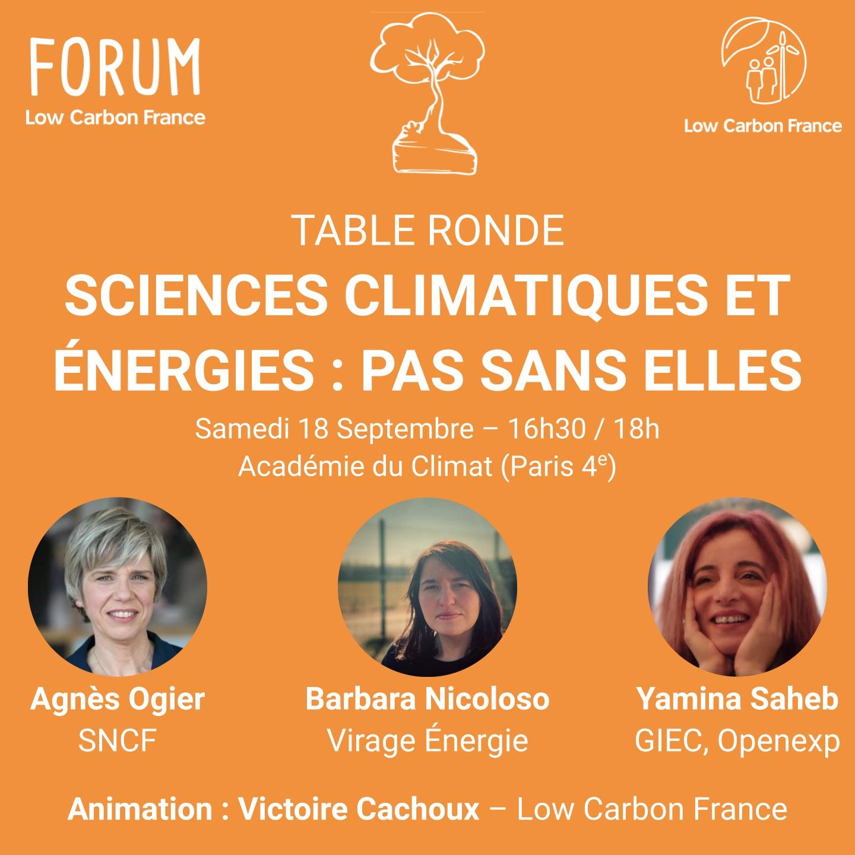 Table ronde – Sciences climatiques et énergies : pas sans elles